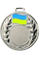 """Medaila (pr.50mm) """"žlto/modrá"""" striebro"""