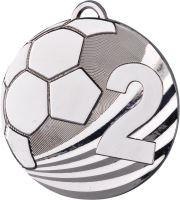 "MD2450/S - Medaila futbal ""2"" (pr.50 mm, hr.3 mm) striebro"