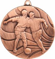 MMC3650/B - Medaila futbal (pr.50 mm, hr.3 mm) bronz