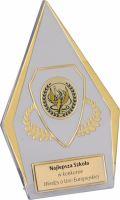 Trofej plast. číra so zlatým H-11cm