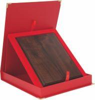 BTY18/EX/V - Obal na diplom červený 30,5x24,5cm (pre dosky 154) Exclusiv vertikal