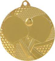 MMC7750/G - Medaila stolný tenis (pr.50 mm, hr.2 mm) zlato