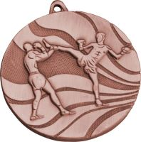 MMC5250/B - Medaila kickbox (pr.50 mm, hr.3 mm) bronz