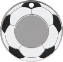 MMC5150/S - Medaila futbal (pr.50 mm, hr.3 mm) striebro
