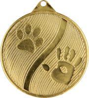 MMC20050/G - Medaila psy (pr.50 mm, hr.2 mm) zlato