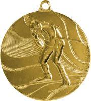 MMC4750/G - Medaila biatlon (pr.50 mm, hr.3 mm) zlato