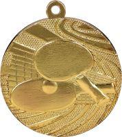 MMC1840/G - Medaila stolný tenis (pr.40 mm, hr.2 mm) zlato