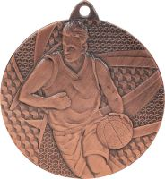 MMC6850/B - Medaila basketbal (pr.50 mm, hr.2 mm) bronz