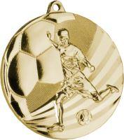 MMC5055/G - Medaila futbal zlato H-3 cm, R-50 cm