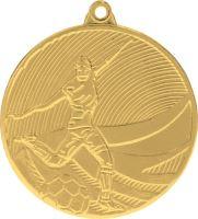 MD12904/G - Medaila futbal (pr.50 mm, hr.3 mm) zlato