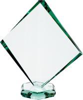 G022C - Sklenená trofej + obal H-18,5cm