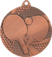 MMC7750/B - Medaila stolný tenis (pr.50 mm, hr.2 mm) bronz