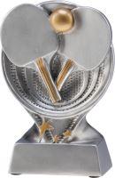 RS1000 - Figúrka odlievaná strieborná stolný tenis H-13 cm