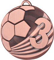 """MD2450/B - Medaila futbal """"3"""" (pr.50 mm, hr.3 mm) bronz"""