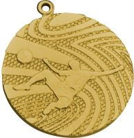 MMC1240/G - Medaila futbal (pr.40 mm, hr.2 mm) zlato