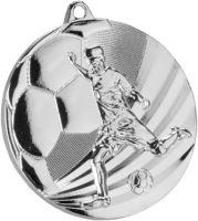MMC5055/S - Medaila futbal striebro H-3 cm, R-50 cm