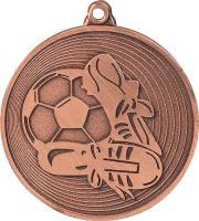 MMC9750/B - Medaila futbal (pr.50 mm, hr.2 mm) bronz