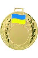 "Medaila (pr.50mm) ""žlto/modrá"" zlato"
