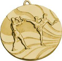 MMC5250/G - Medaila kickbox (pr.50 mm, hr.3 mm) zlato