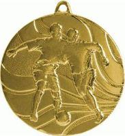 MMC3650/G - Medaila futbal (pr.50 mm, hr.3 mm) zlato