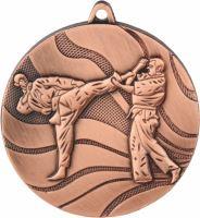 MMC2550/B - Medaila karate (pr.50 mm, hr.3 mm) bronz
