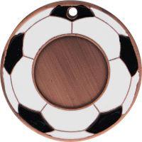 MMC5150/B - Medaila futbal (pr.50 mm, hr.3 mm) bronz