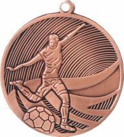 MD12904/B - Medaila futbal (pr.50 mm, hr.3 mm) bronz