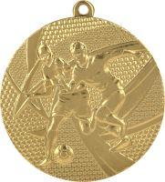 MMC15050/G - Medaila futbal (pr.50 mm, hr.2 mm) zlato