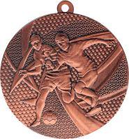 MMC15050/B - Medaila futbal (pr.50 mm, hr.2 mm) bronz