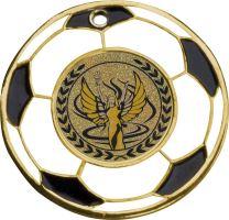 MMC5150/G - Medaila futbal (pr.50 mm, hr.3 mm) zlato