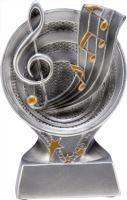 RS501 - Figúrka odlievaná strieborná hudba H-15,5 cm