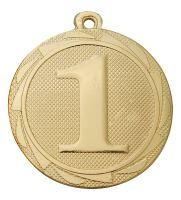 """BS.ME101/G - Medaila umiestnenie """"1"""" (pr.45 mm, hr.2mm) zlato"""