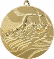 MMC2750/G - Medaila plávanie (pr.50 mm, hr.3 mm) zlato