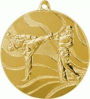 MMC2550/G - Medaila karate (pr.50 mm, hr.3 mm) zlato