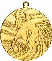 MMC1340/G - Medaila futbal (pr.40 mm, hr.2 mm) zlato