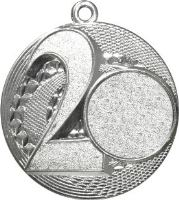 "MMC5057/S - Medaila ""2"" (pr.50 mm, hr.3 mm) striebro"