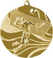 MMC2250/G - Medaila volejbal (pr.50 mm, hr.3 mm) zlato