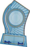 PS130/BL/G - Trofej plast. modrá so zlatým H-13 cm