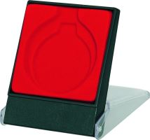 H3/RD Púzdro na medailu 50mm 70x85mm červenáé