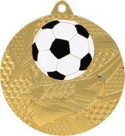 MMC6950/G - Medaila futbal (pr.50 mm, hr.2 mm) zlato