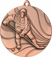MMC3250/B - Medaila hokej (pr.50 mm, hr.3 mm) bronz