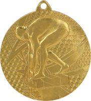 MMC7450/G - Medaila plávanie (pr.50 mm, hr.2 mm) zlato
