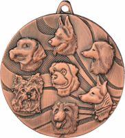 Medaila psy (pr.50mm) bronz