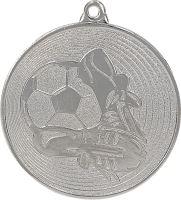 MMC9750/S - Medaila futbal (pr.50 mm, hr.2 mm) striebro