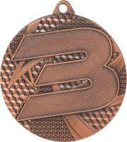 "MMC6150/B - Medaila ""3"" (pr.50 mm, hr.2 mm) bronz"