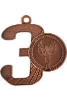 "MMC16050/B - Medaila ""3"" (pr.52x50 mm, hr.2 mm) bronz"