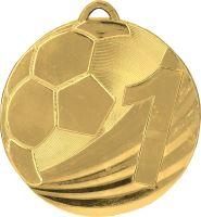 "MD2450/G - Medaila futbal ""1"" (pr.50 mm, hr.3 mm) zlato"