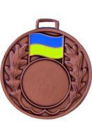 "Medaila (pr.50mm) ""žlto/modrá"" bronz"