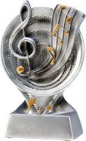 RS500 - Figúrka odlievaná strieborná hudba H-13 cm