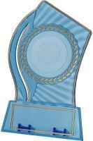 PS150/BL/G - Trofej plast. modrá so zlatým H-15 cm